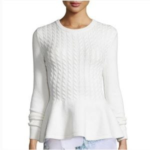 NWT Ted Baker Cable Knit Peplum Jumper